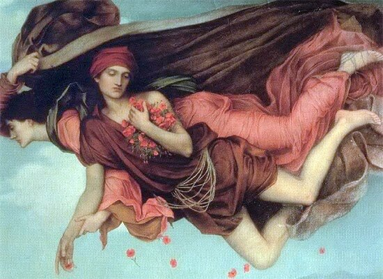 Hypnos carried by his mother Nyx